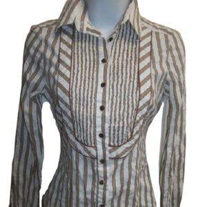 Zara Striped Tuxedo Shirt